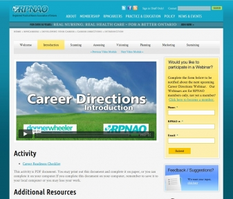 RPNAO Career Development Module in Drupal
